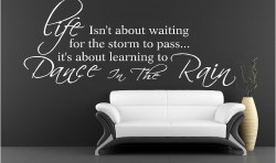 DANCE IN THE RAIN VINYL WALL ART STICKERS GRAPHICS