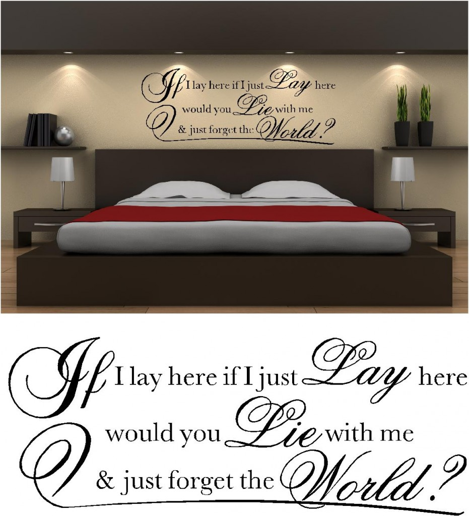 IF I LAY HERE VINYL WALL ART STICKERS Part 55