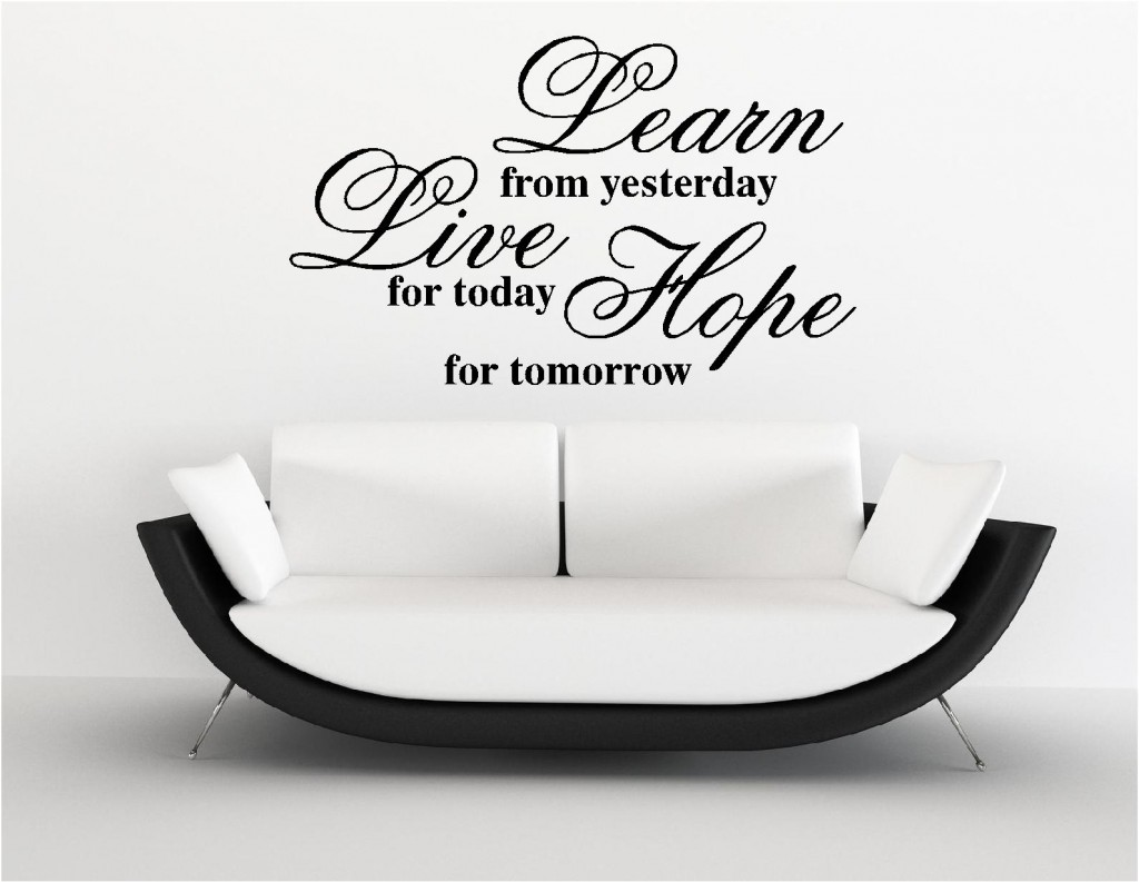 LEARN LIVE HOPE VINYL WALL ART STICKERS Custom DesignsCustom Designs - Vinyl stickers uk