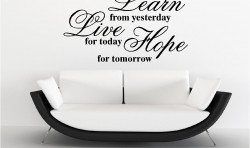 LEARN LIVE HOPE VINYL WALL ART STICKERS