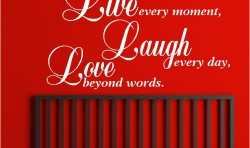 LIVE LAUGH LOVE VINYL WALL ART STICKERS GRAPHICS