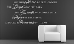 MAY THIS HOME BE BLESSED VINYL WALL ART STICKERS GRAPHICS