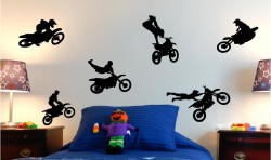 MOTORCROSS MOTO X KIDS WALL ART STICKERS