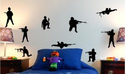 TOY ARMY SOLDIERS WALL ART STICKERS