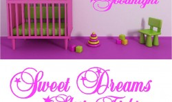 SWEET DREAMS KIDS VINYL WALL ART  GRAPHICS