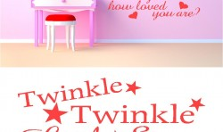 TWINKLE LITTLE STAR KIDS VINYL WALL ART STICKERS GRAPHICS