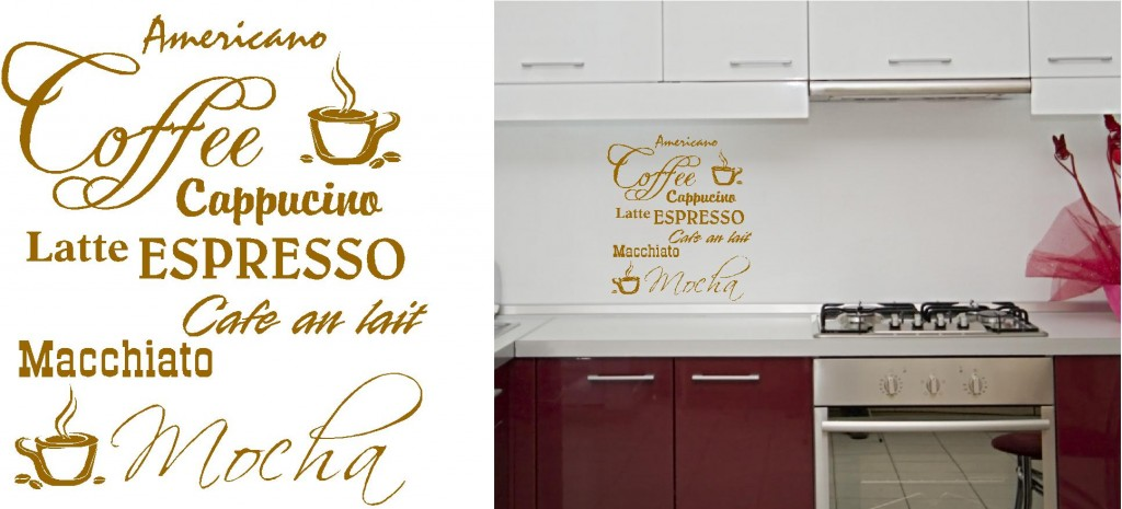 COFFEE VINYL WALL ART STICKERS GRAPHICS Custom DesignsCustom Designs - Custom vinyl wall decals coffee