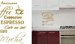 COFFEE VINYL WALL ART STICKERS GRAPHICS