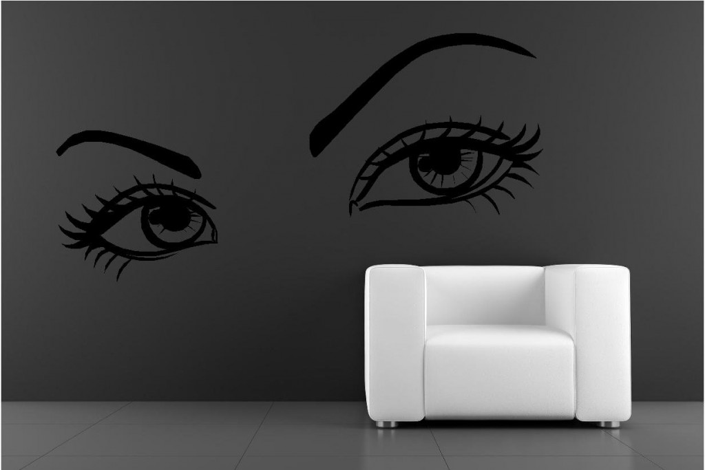 Wall Art Stickers Eyes : Large sexy eyes vinyl wall art stickers graphics custom