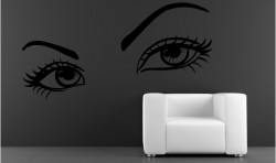LARGE SEXY EYES VINYL WALL ART STICKERS GRAPHICS