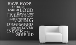 HAVE HOPE VINYL WALL ART STICKERS GRAPHICS