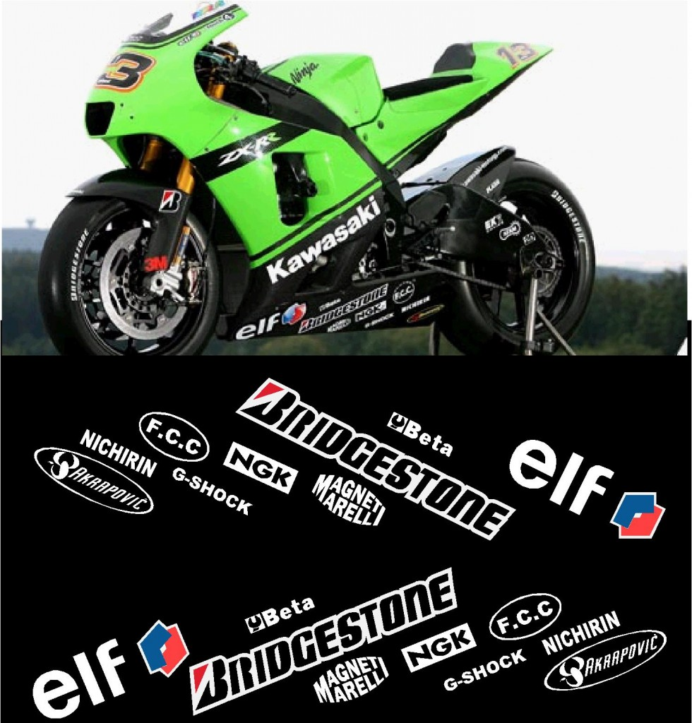 Kawasaki Belly Custom DesignsCustom Designs - Kawasaki motorcycles stickers