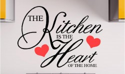 KITCHEN IS WHERE THE HEART IS VINYL WALL ART STICKERS GRAPHICS
