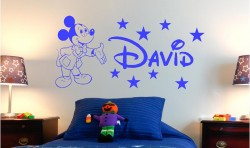 PERSONALISED MICKY MOUSE VINYL WALL ART STICKER