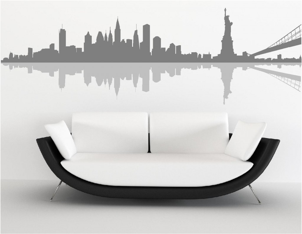 NEW YORK SKYLINE WALL ART STICKERS