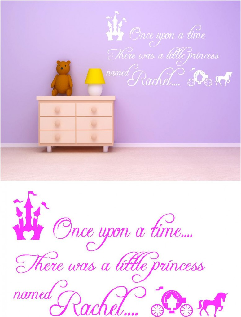 Once upon a time personalised kids vinyl wall art stickers once upon a time personalised kids vinyl wall art stickers graphics amipublicfo Images