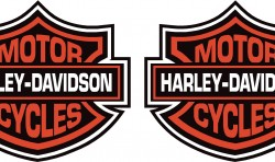 HARLEY MOTORBIKE TANK DECALS STICKERS X2