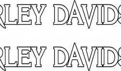 HARLEY MOTORBIKE TANK DECALS STICKER X2