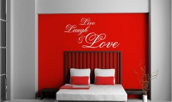 Live Laugh & Love VINYL WALL ART STICKERS