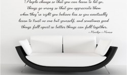 I BELIEVE- MARILYN MONROE VINYL WALL ART STICKERS
