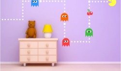 PAC MAN CLASSIC GAME KIDS VINYL WALL ART STICKERS