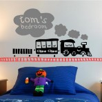 Train Wall Art personalised kids train wall art graphics - custom designscustom
